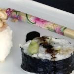 Xixo-Sushi. Fusión de arroz japonés y turrón de yema.