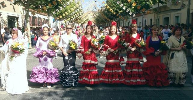 Ofrenda floral dels geladors en Xixona