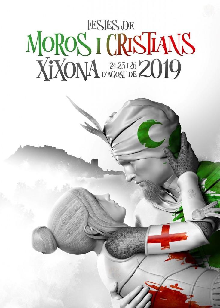 Cartel fiestas de moros y cristianos de Xixona 2019