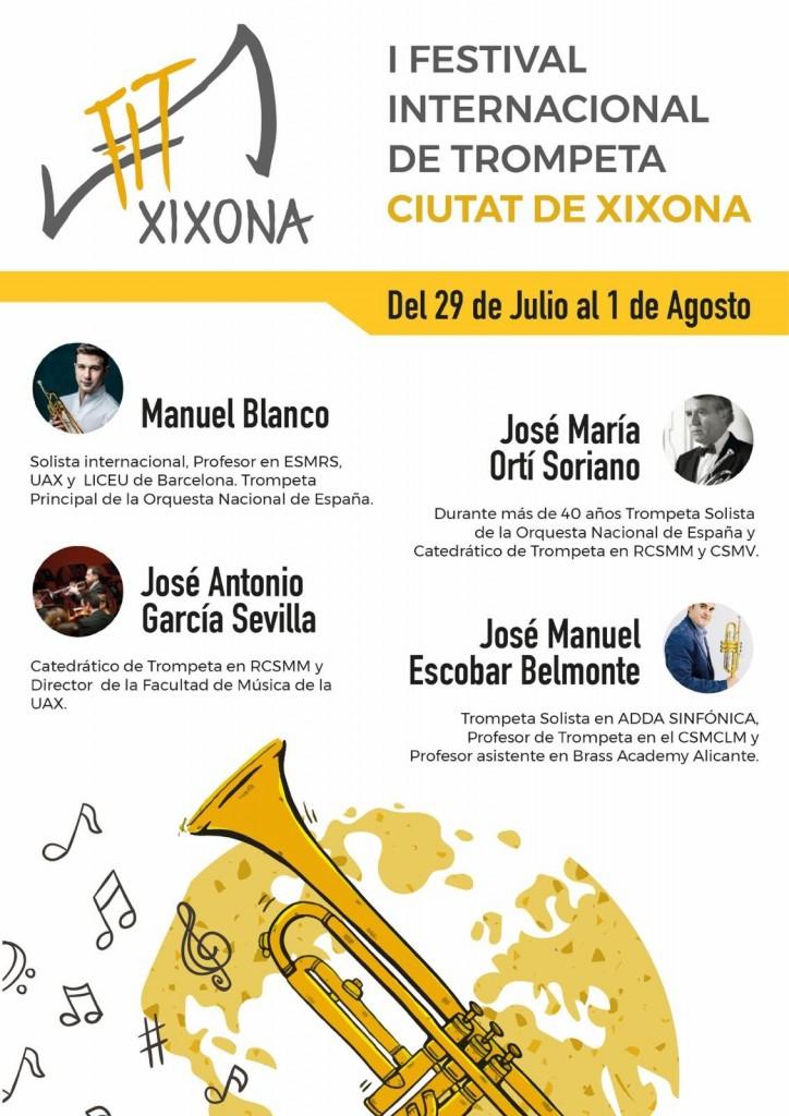 cartel festival internacional de trompeta ciutat de xixona 1